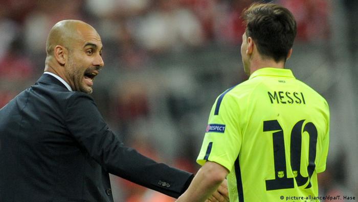 Pep Guardiola y Lionel Messi