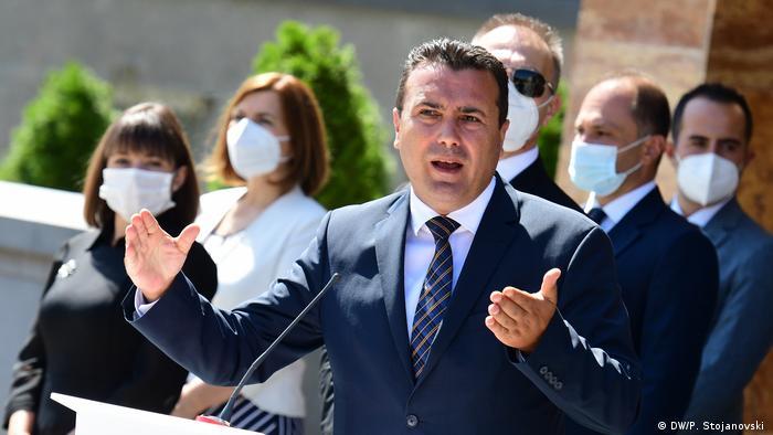 Nord-Mazedonien Skopje   designierter Ministerpräsident Zoran Zaev stellt neues Kabinett vor
