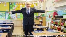 England Coronavirus | Premierminister Johnson besucht Grundschule