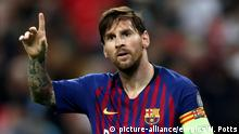 Fußballspieler Lionel Messi 2018