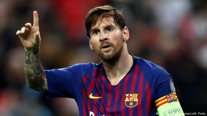 Fußballspieler Lionel Messi 2018 (picture-alliance/empics/N. Potts)