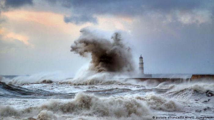 Großbritannien Seaham Sturm