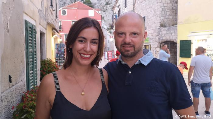Kroatien   Deutsche Touristen: Klaudija und Andre Keck (DW/N. Tomasovic Bock)