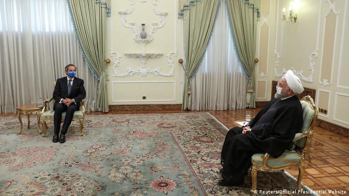 IAEA-Chef Rafael Grossi traf auch mit dem iranischen Präsidenten Hassan Rohani zusammen (Foto: Reuters/Official Presidential Website)