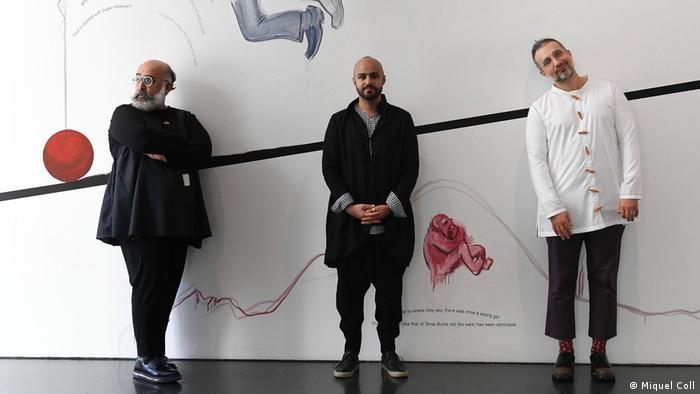 Portrait of three artists, Ramin Haerizadeh, Hesam Rahmanian and Rokni Haerizadeh