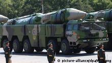 China | DF-21D Raketensystem während Militärparade