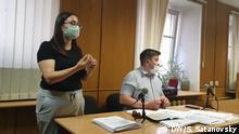 Russland Svetlana Gepalova im Gerichtssaal in Sankt-Petersburg