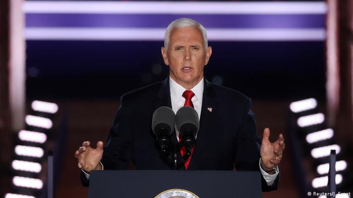 Vize-Präsident Mike Pence am Rednerpult