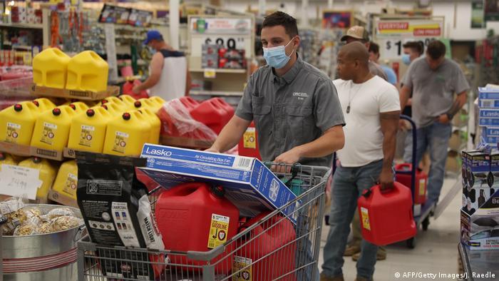 USA Louisiana | Vorbereitungen auf Hurrikan Laura