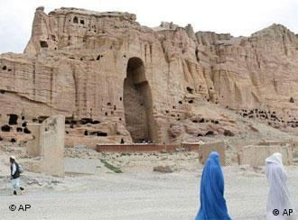One of the destroyed Bamiyan Buddha
