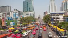 3.3.2020, Bangkok, Thailand: Daily traffic jam in the afternoon on March 3, 2012 in Bangkok, Thailand. Traffic jams remains constant problem in Bangkok despite rapid development of public transportation system.
