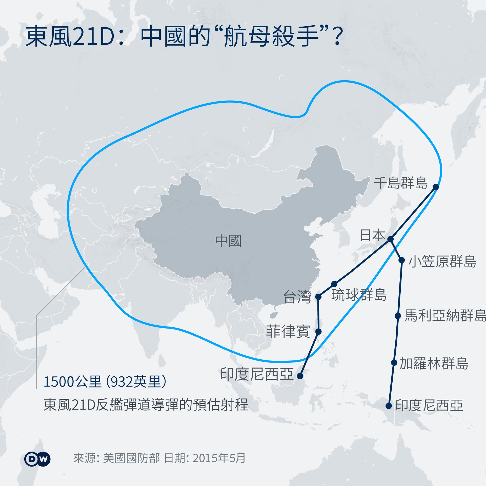 Infografik Karte Chinese Missile Defense ZH