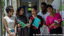 Äthiopien Sprachschülerinnen und Schüler im Goethe-Institut in Addis Abeba