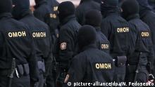 Weißrussland I Belarus I Massenfestnahmen bei Protesten in Minsk