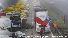 Lkw-Fahrer-Protest in Chile