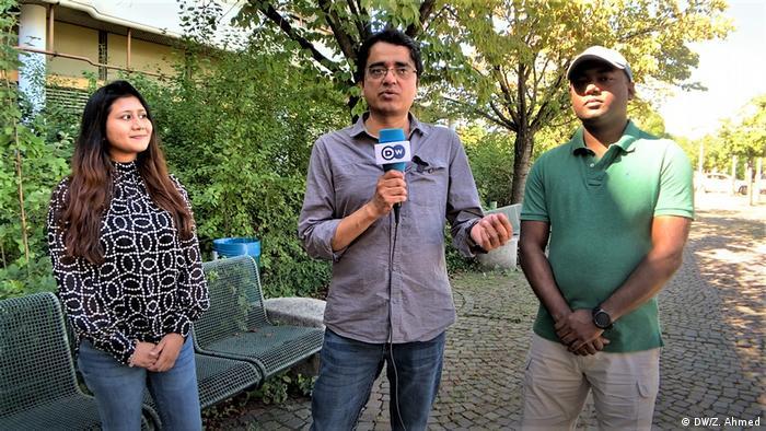 Deutschland Heidelberg | Zwei Medizinstudenten aus Bangladesch im Gespräch mit DW (DW/Z. Ahmed)