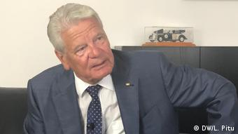 Comme la chancelière Angela Merkel, l'ancien président Joachim Gauck était originaire de l'Est