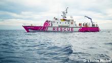 ***PRESSEBILDER Rettungsschiff MV Louise Michel | Banksy*** via Alina Krobok Rechte: Louise Michel