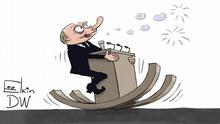 Karikatur Sergey Elkin zu Rede Putin