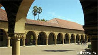 Main quad with arches at Stanford University