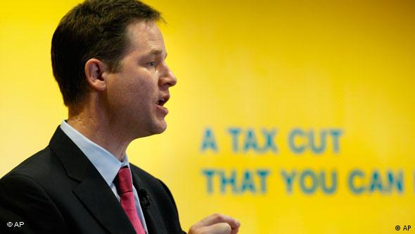 Britain's Liberal Democrats party leader, Nick Clegg