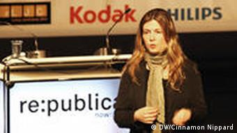Lucie Morillon, head of the New Media desk at Reporters Without Borders talks about internet censorship at Re:publica conference