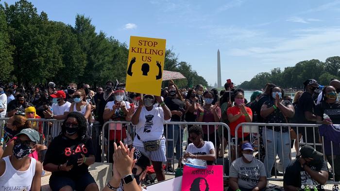 USA | Anti-Rassismus-Kundgebung in Washington (DW/C. Bleiker)