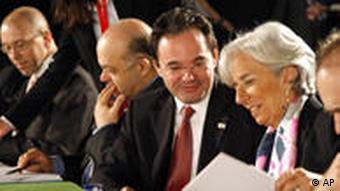 French Finance Minister Christine Lagarde and Greek counterpart George Papaconstantinou