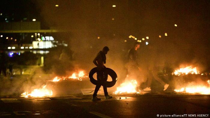 Protests erupt in Sweden