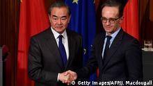 Deutschland China | Außenminister Maas und Wang Yi