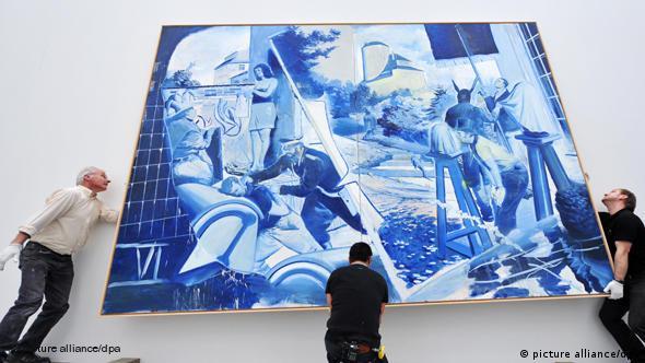 Deutschland Kunst das Blaue von Neo Rauch in München Flash-Galerie