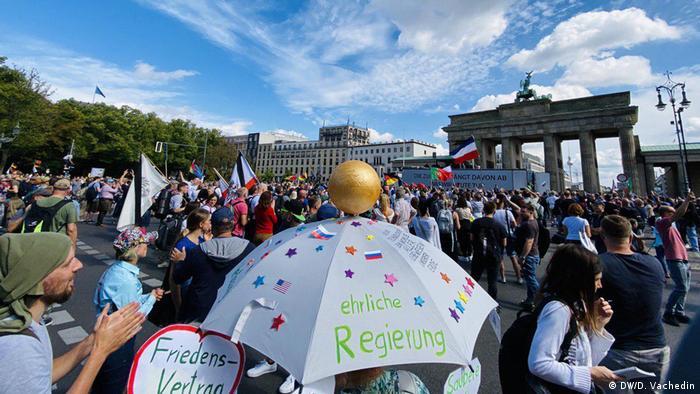 Demonstrators in Berlin