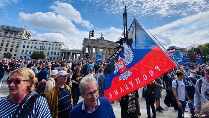 Серед учасників акції протесту в Берліні були помічені прихильники ДНР