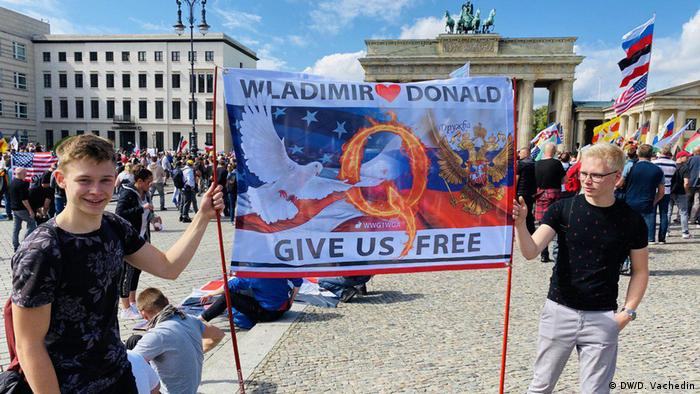 Учасники акції протесту у Берліні