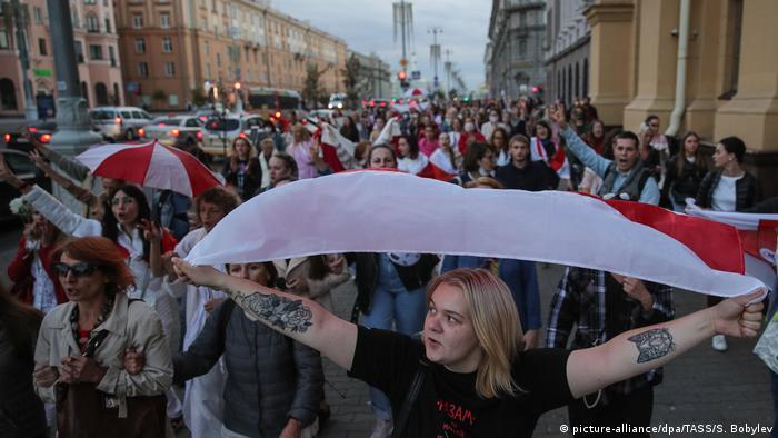 Марш протеста в Минске 28 августа 2020 года