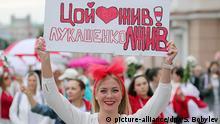 Belarus Demo von Frauen gegen Polizeigewalt in Minsk