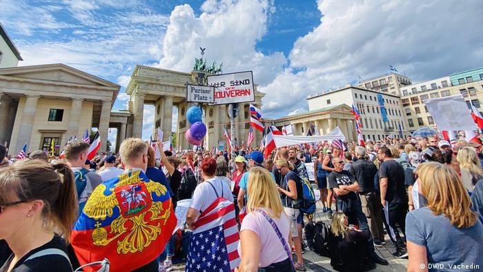 Протести у Берліні проти заходів карантину, 29 серпня 2020