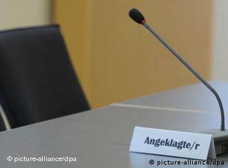 Leerer Sitzplatz im Amtsgericht (Foto: dpa)