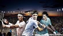 Fotomontage ATP US Open 2013 | Nadal, Djokovic und Federer