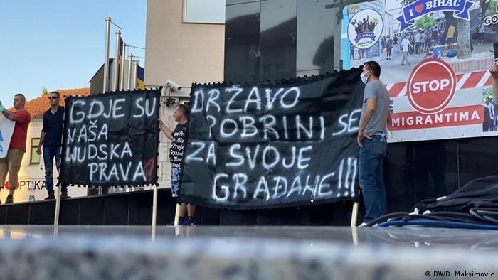 Bosnien-Herzegowina Bihac Proteste gegen das ungelöste Problem der Migranten