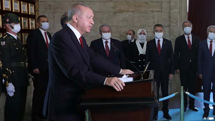 سخنرانی تهدیدآمیز اردوغان، یکشنبه ۳۰ اوت ۲۰۲۰