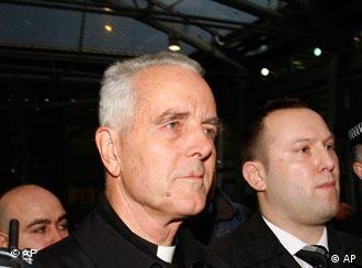 British Bishop Richard Williamson, second from left foreground