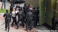 Belarus Tausende protestieren gegen Lukaschenko in Minsk - Festnahmen