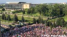 Protestmarsch vor dem Präsidentenpalast in Minsk, Belarus. Autor: Alexandra Boguslawskaja, DW, 30.08.2020