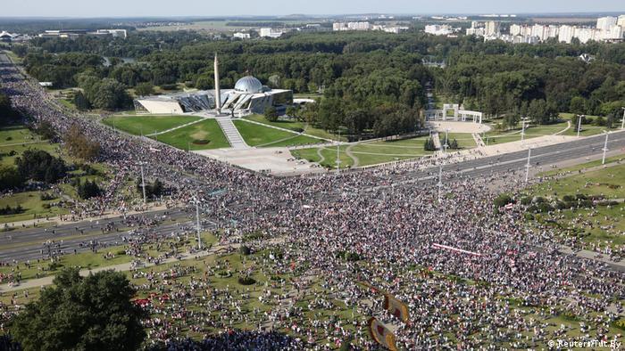 Belarus Minsk Protest Demonstration (Reuters/Tut.By)
