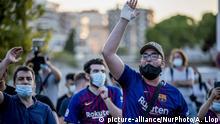 Spanien F.C. Barcelona   Protest gegen den Abschied von Leo Messi
