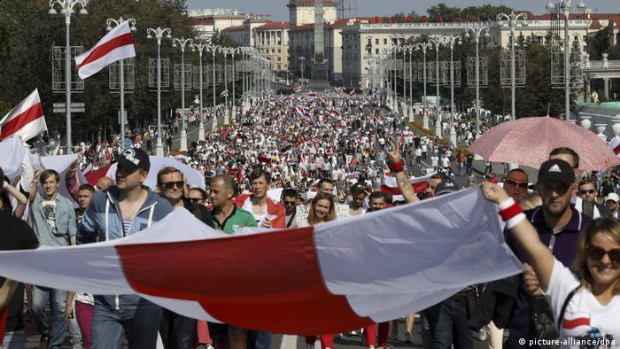 Belarus Minsk Protest Demonstration (picture-alliance/dpa)