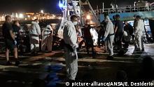Italien Protest gegen Ankunft von Migranten in Lampedusa