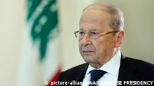 Libanon Präsident Michel Aoun