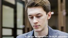 MOSCOW, RUSSIA - FEBRUARY 13, 2020: Higher School of Economics student and video blogger Yegor Zhukov sentenced to three years in prison for inciting extremism, appeals against his suspended sentence at the Moscow City Court. Mikhail Japaridze/TASS PUBLICATIONxINxGERxAUTxONLY TS0CE1FF